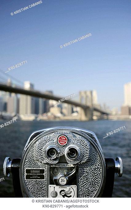 USA New York City Brooklyn Bridge