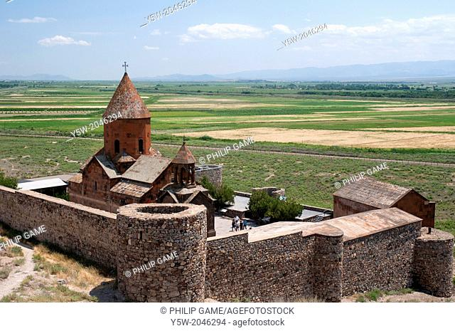 Khor Virap Monastery faces Mt Ararat across the closed Turkish-Armenian frontier