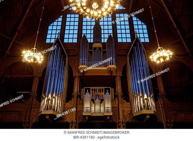 Organ, church of Kiruna, Norrbotten County, Sweden