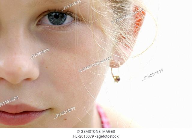 Close Up Of Girls Face