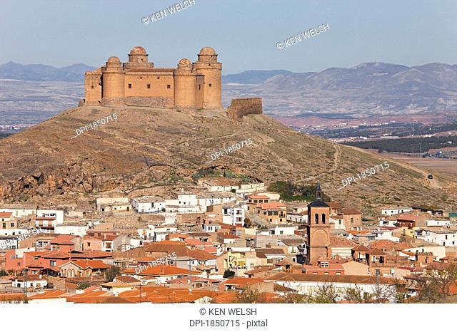 La Calahorra, Granada Province, Spain, 16th century castle above village