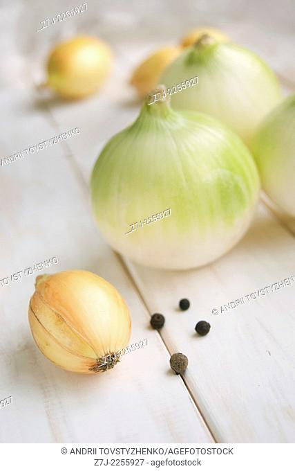 green and yellow onions