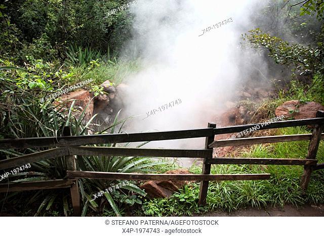 Fumaroles, boiling water and steam, Rincon de la Vieja National Park, Costa Rica