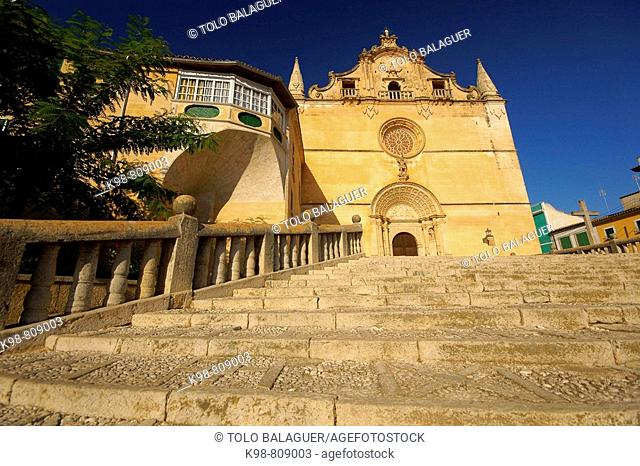Church of Sant Miquel (1248), Felanitx. Majorca, Balearic Islands, Spain