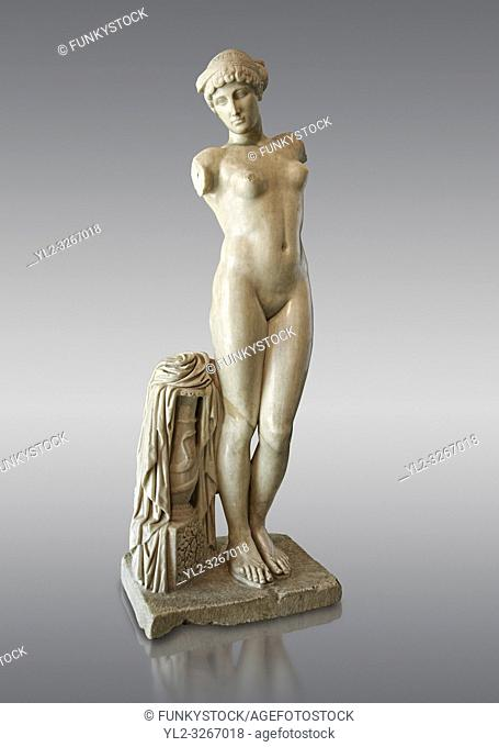 Roman marble statue of the Esquiline Venus or Aphrodite dated to the 1st cent. It was found in 1874 in Piazza Dante on the Esquiline Hill in Rome