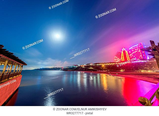 Baku - JUNE 29, 2015: Jumeirah Hotel on June 29 in Baku, Azerbaijan. Baku has many modern hotels