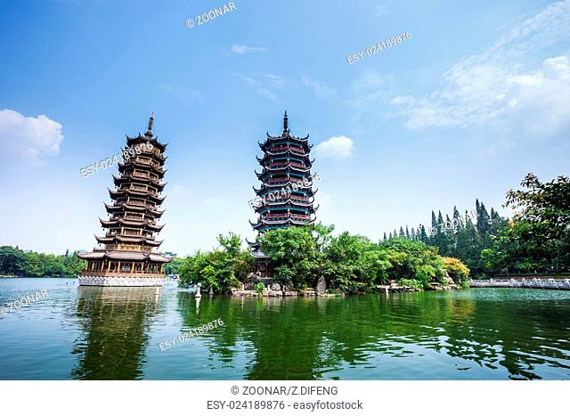 tower in guilin,china