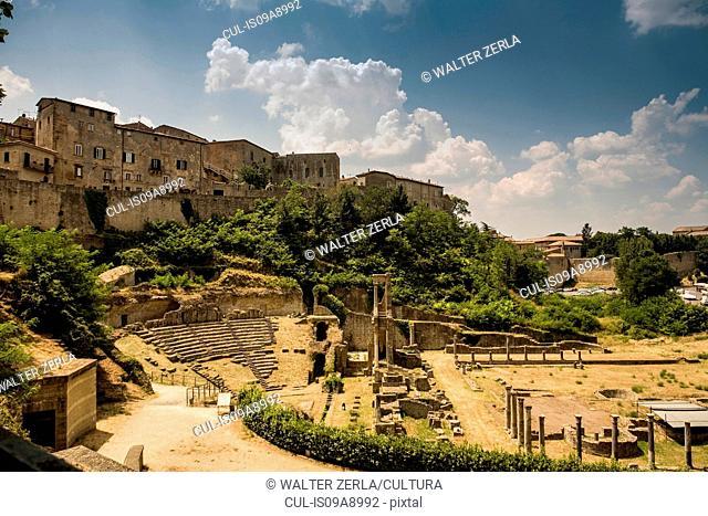Roman ruins below Volterra, Tuscany, Italy
