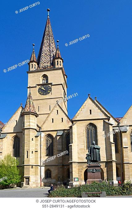 Evangelical Cathedral, Piata Huet, Sibiu, Transylvania, Romania