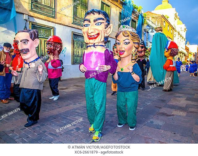 Devils and Tarasca street parade in San Cristobal de La Laguna
