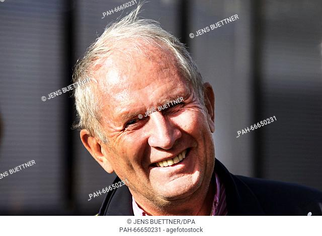 Red Bull advisor Helmut Marko, Austrian Helmut Marko, seen during the training session for the upcoming Formula One season at the Circuit de Barcelona -...