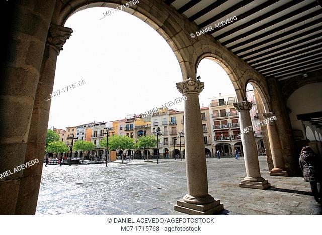 Plasencia main square, Caceres, Extremadura, Spain