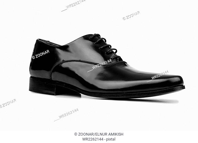 Male black shoes isolated on white