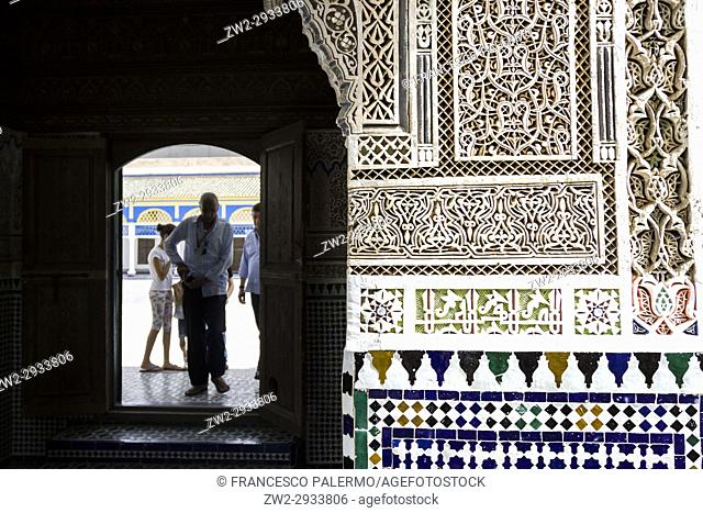 Bahia Palace is a symbol of Islamic and Moroccan style. Marrakech, Marrakech-Safi. Morocco