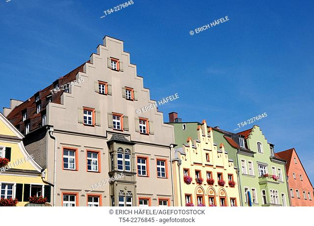 Old houses on Arnulfsplatz in Regensburg