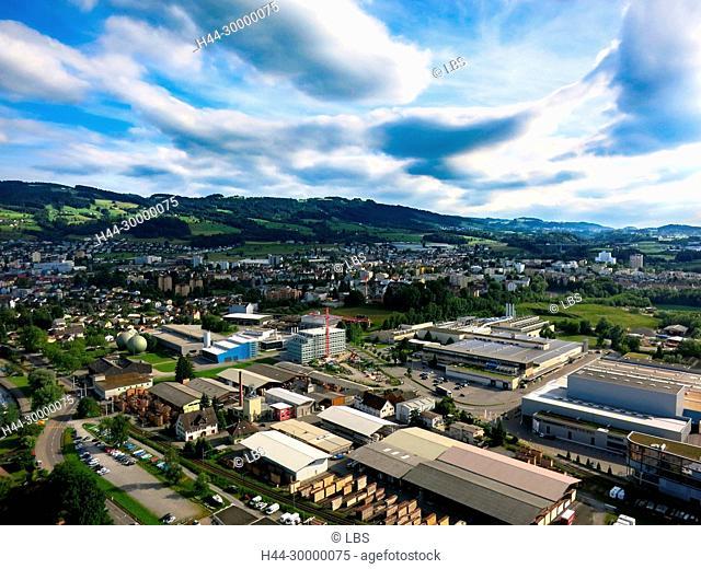 Luftaufnahme der Stadt Rorschach