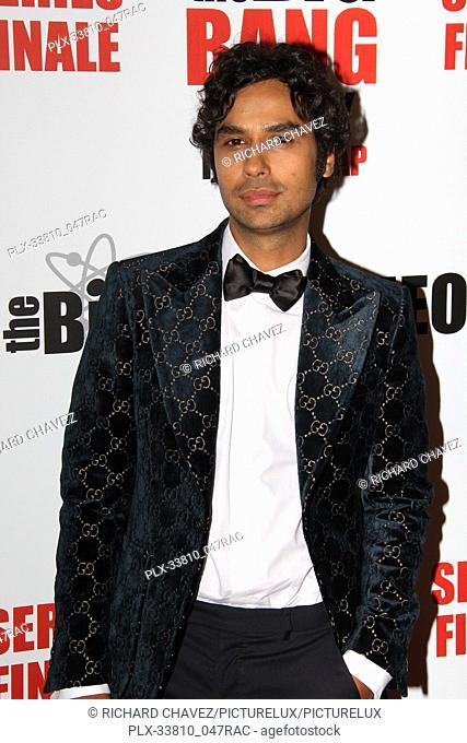 """Kunal Nayyar at the Series Finale Party For CBS' """"""""The Big Bang Theory"""""""" held at The Langham Huntington in Pasadena, CA, May 1, 2019"""