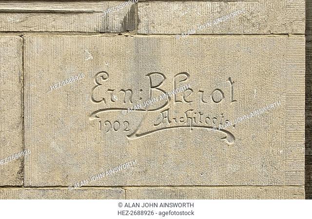 Ernest Blerot carved signature, 1902, (c2014-2017). Artist: Alan John Ainsworth