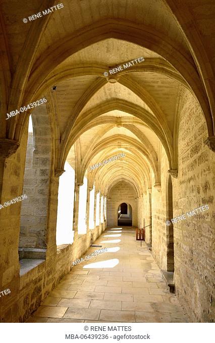 France, Gard, Villeneuve les Avignon, the Val de Benediction chartreuse, the small cloister