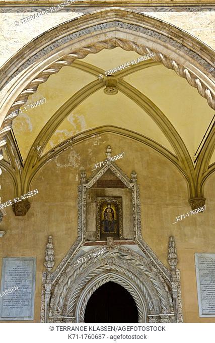The famous portico by Domenico and Antonello Gagini in Palermo, Sicily, Italy