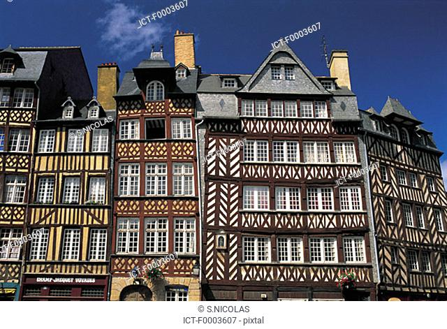 France, Brittany, Rennes, Champ-Jacquet square