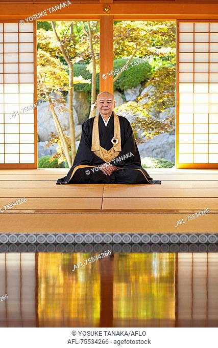 Japanese priest at a temple
