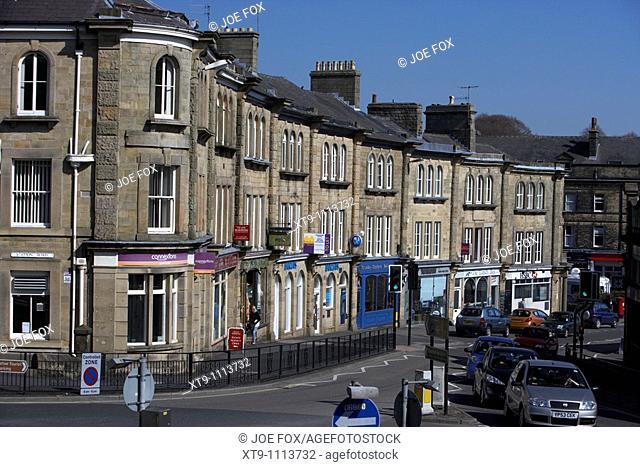 the Quadrant shopping street Buxton Derbyshire England UK
