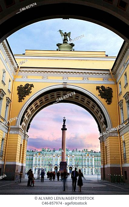 Palace Square. St. Petersburg. Russia