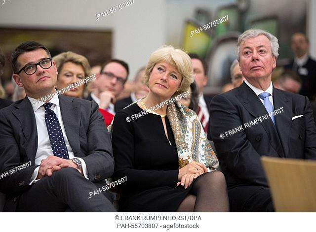 Hess culture secretary Boris Rhein (l-r), Culture Minister Monika Grütters (both CDU) and chairman of the administration of the Staedel art institute