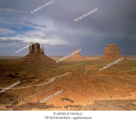 Usa, Arizona, Monument Valley, the Mittens