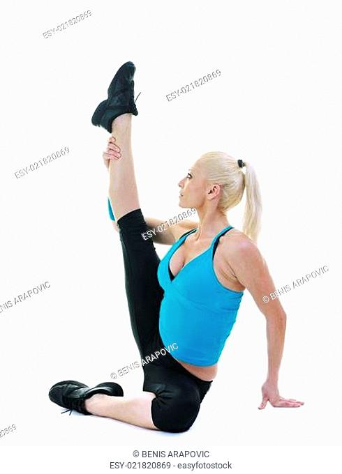fitness and exercise with blonde woman