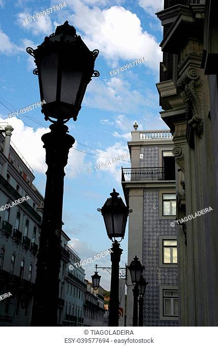 Lamp post, Lisbon, Portugal