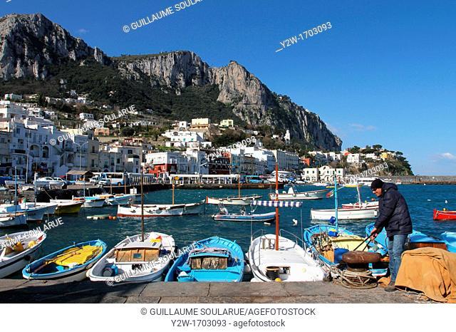 Europe, Italy, Capri, Marina Grande's port