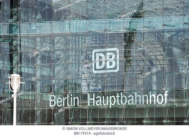 Signature Berlin main station of the German Federal Railroads railways, Lehrter station