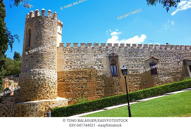 Toledo La Cava Palace facade in Spain at Castile La Mancha
