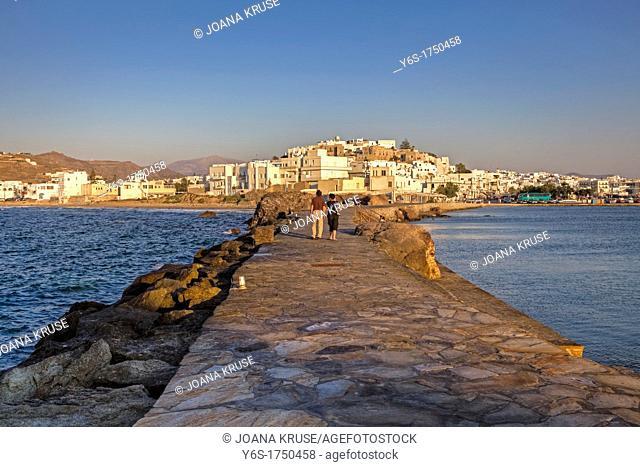 The Chora of Naxos at sunset