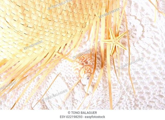 white cotton texture with hat