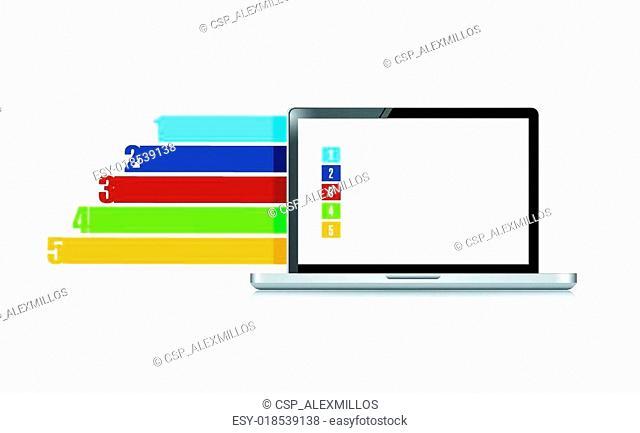 computer business info graphics illustration