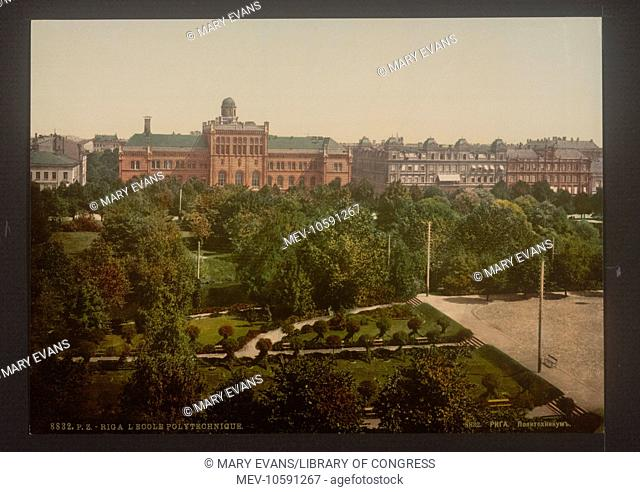 The Polytechnic, Riga, Russia, (i.e., Latvia). Date between ca. 1890 and ca. 1900