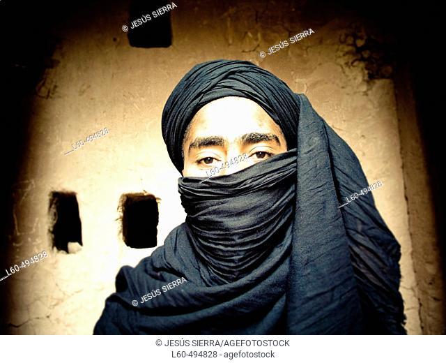 Tuareg in Tamegroute, Morocco