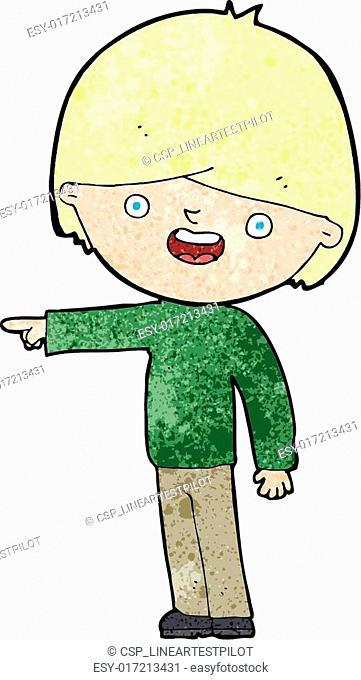 cartoon man pointing