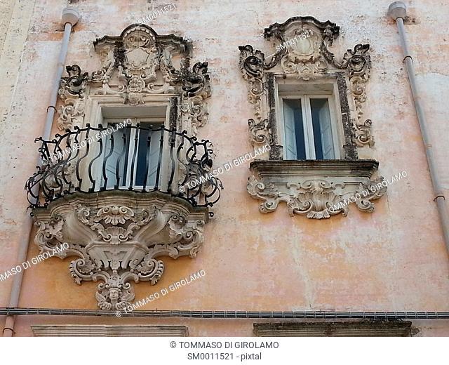 Salento, Puglia, Galatina Locality, Baroque, Rococo, balcony