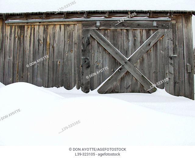Little barn in Hawley. Massachusetts, USA