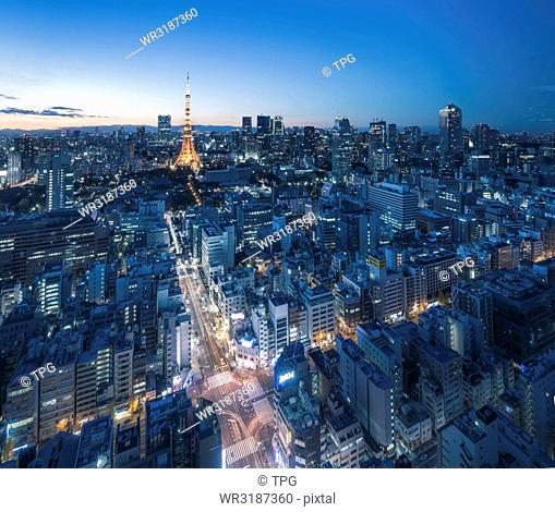 Niew view of Tokyo Tower and Tokyo