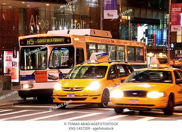 Taxi cab, Broadway, New York City