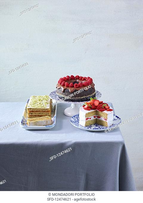 Vegan sponge cakes