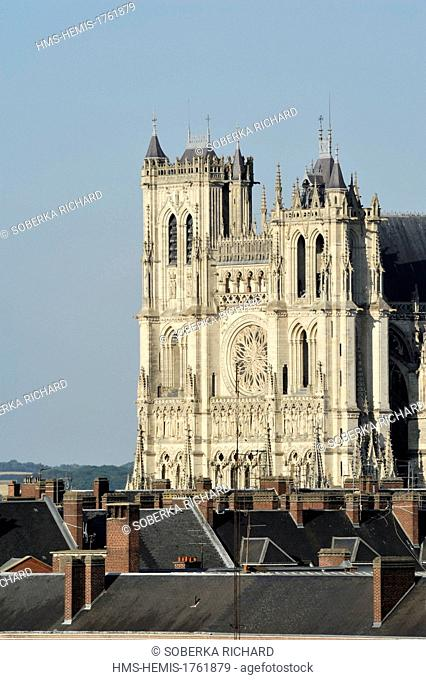France, Somme, Amiens, Notre Dame Cathedral of Amiens listed as World Heritage by UNESCO
