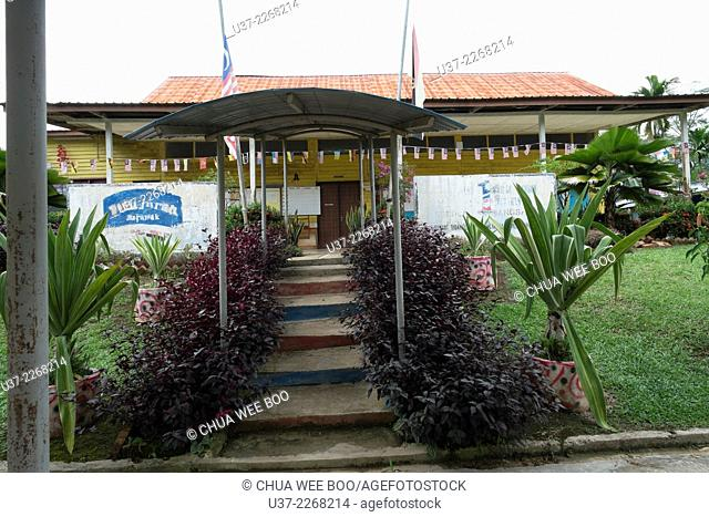 A primary school in Kampung Bengoh, Sarawak, Malaysia