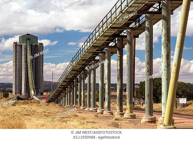 Kayenta, Arizona - A loading facility for Peabody Coal's Kayenta Mine. Coal is mined on Navajo and Hopi lands on Black Mesa and then transported by a 17-mile...