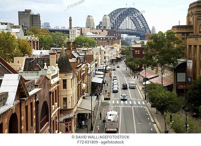 George Street, The Rocks, and Sydney Harbour Bridge
